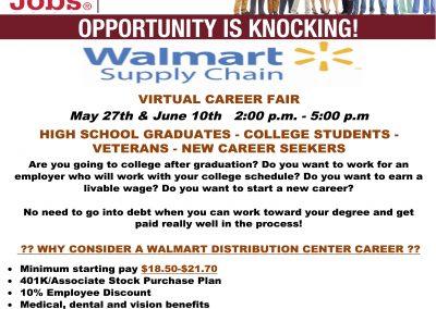 Walmart DC Virtual Career Fair